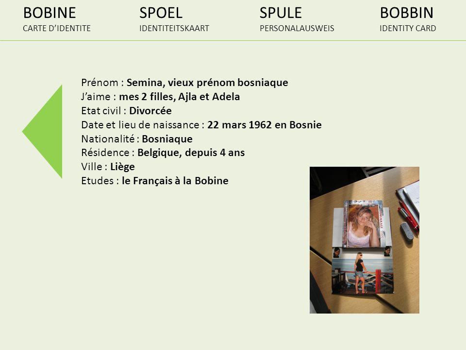 BOBINE SPOEL SPULE BOBBIN Prénom : Semina, vieux prénom bosniaque