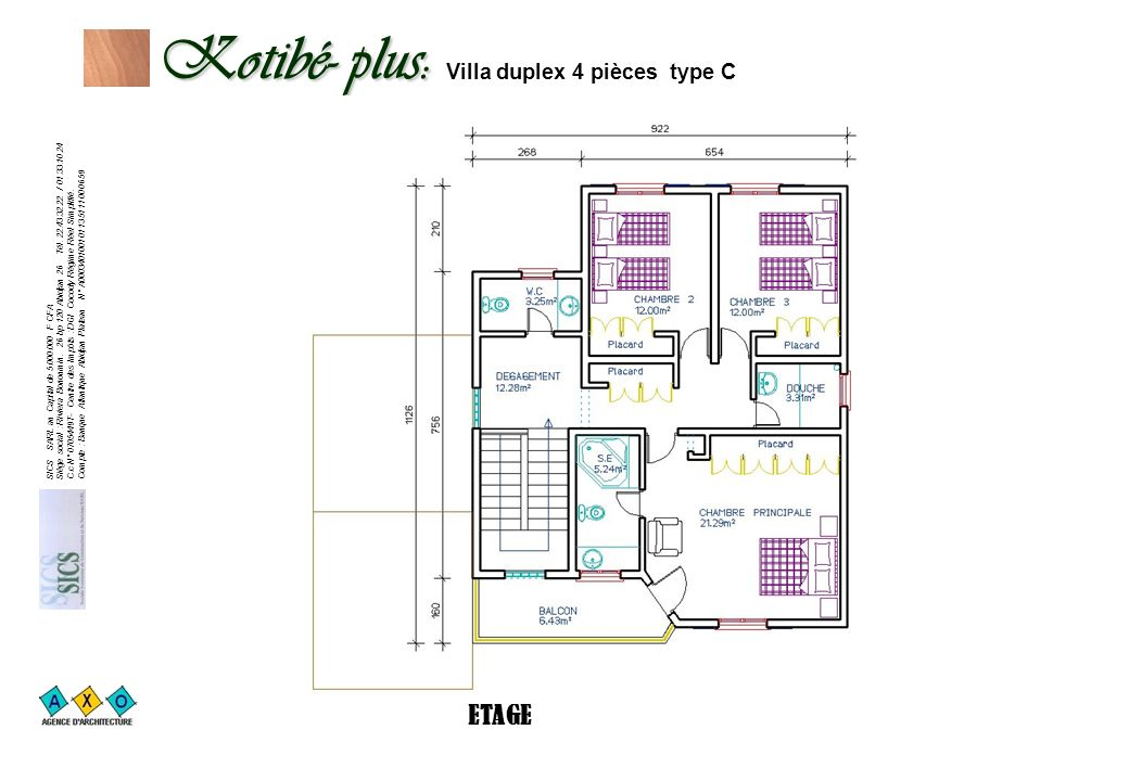 Kotibé- plus: Villa duplex 4 pièces type C