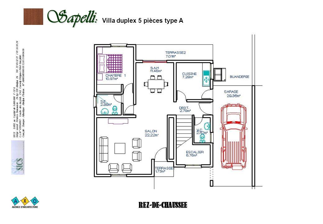 Sapelli: Villa duplex 5 pièces type A