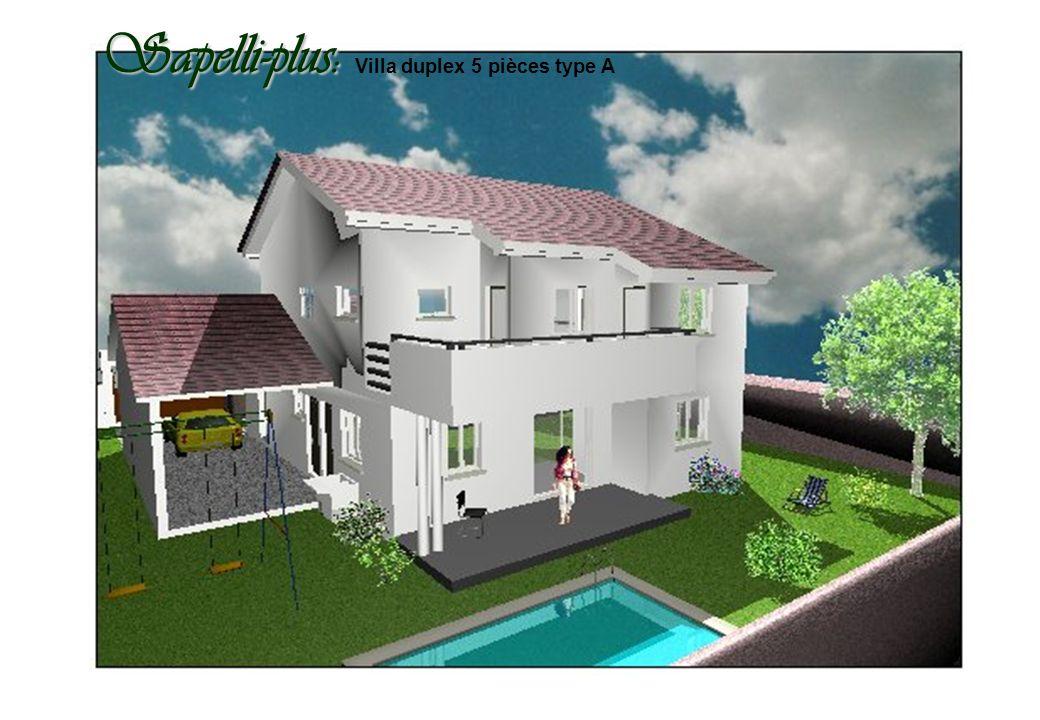 Sapelli-plus: Villa duplex 5 pièces type A