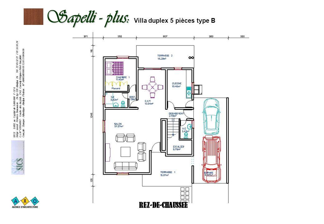 Sapelli - plus: Villa duplex 5 pièces type B