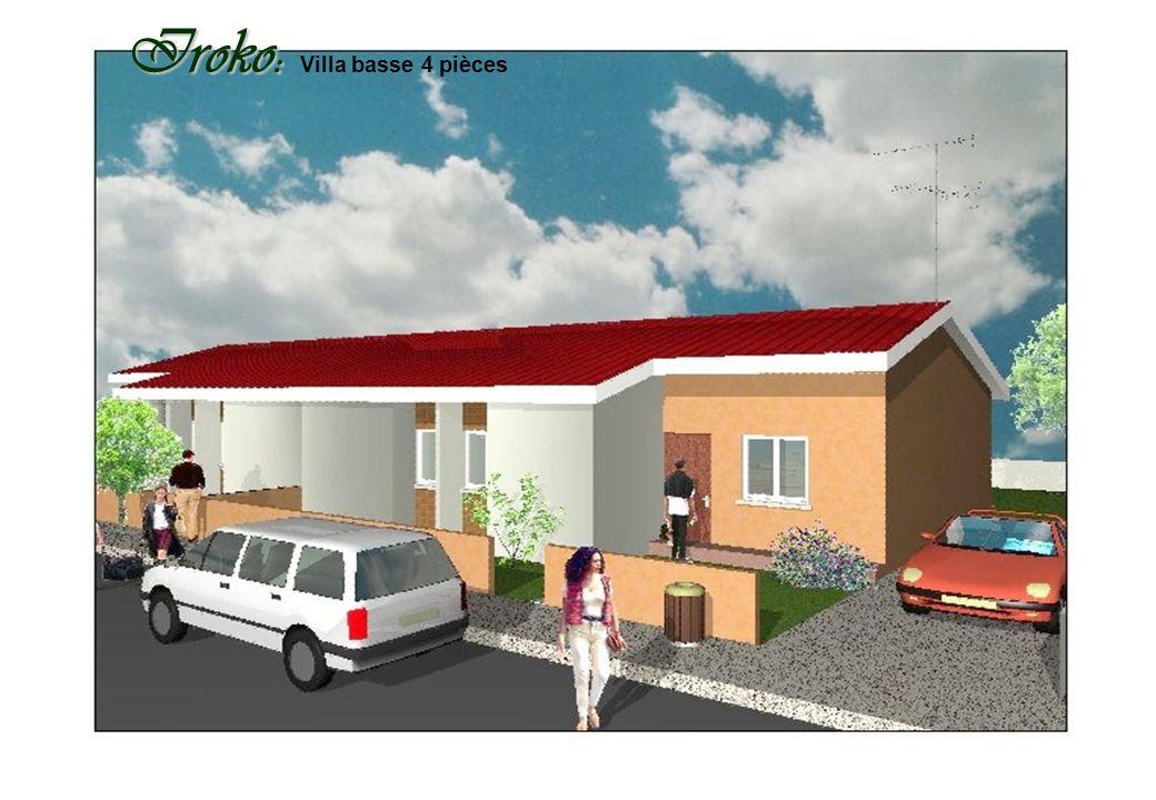 Iroko: Villa basse 4 pièces