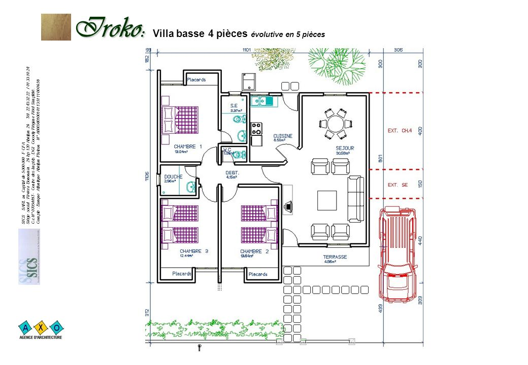 Iroko: Villa basse 4 pièces évolutive en 5 pièces