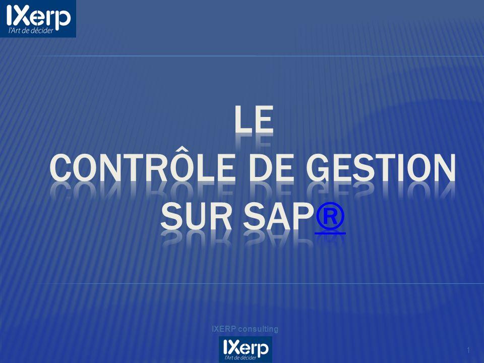 LE Contrôle de gestion SUR SAP®