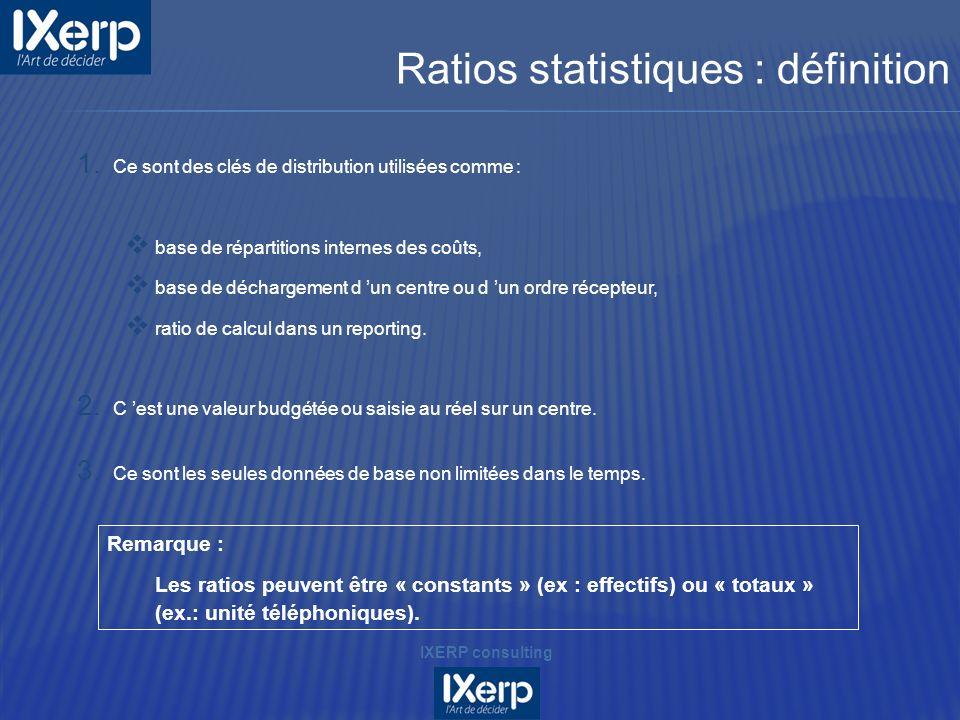Ratios statistiques : définition