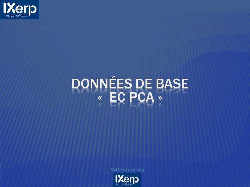 Données de base « EC PCA »