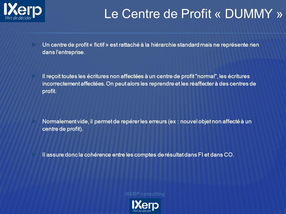 Le Centre de Profit « DUMMY »