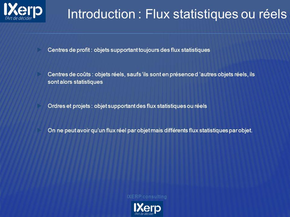 Introduction : Flux statistiques ou réels