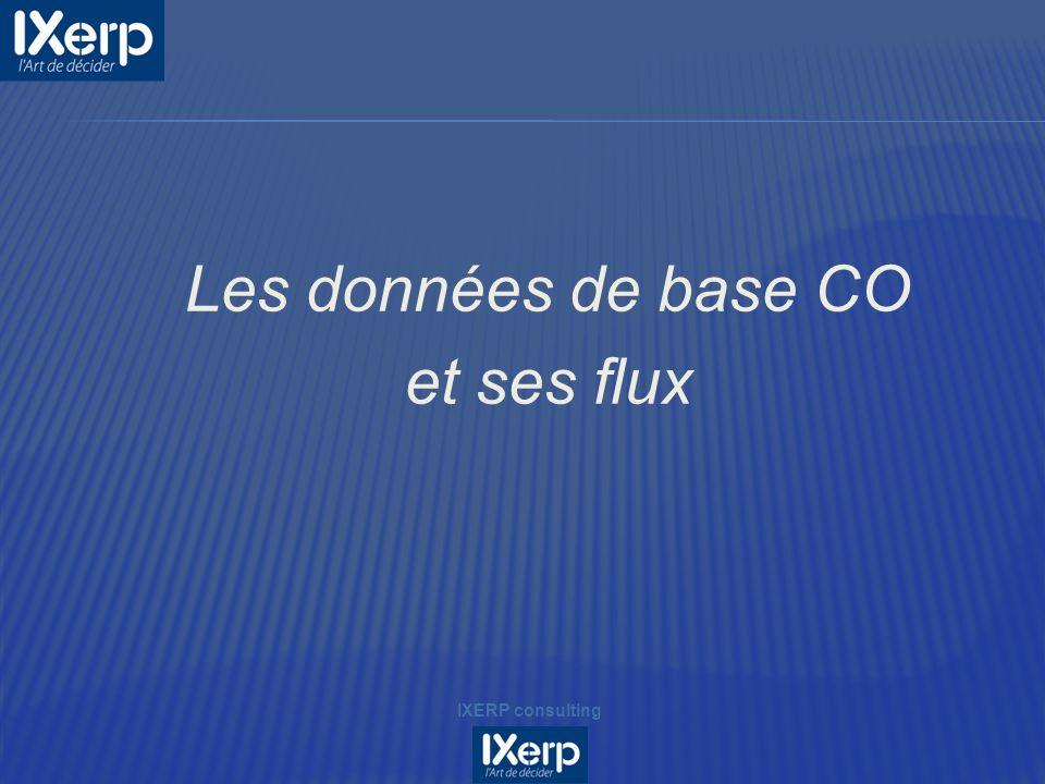 Les données de base CO et ses flux IXERP consulting