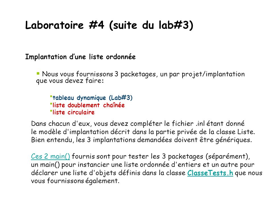 Laboratoire #4 (suite du lab#3)