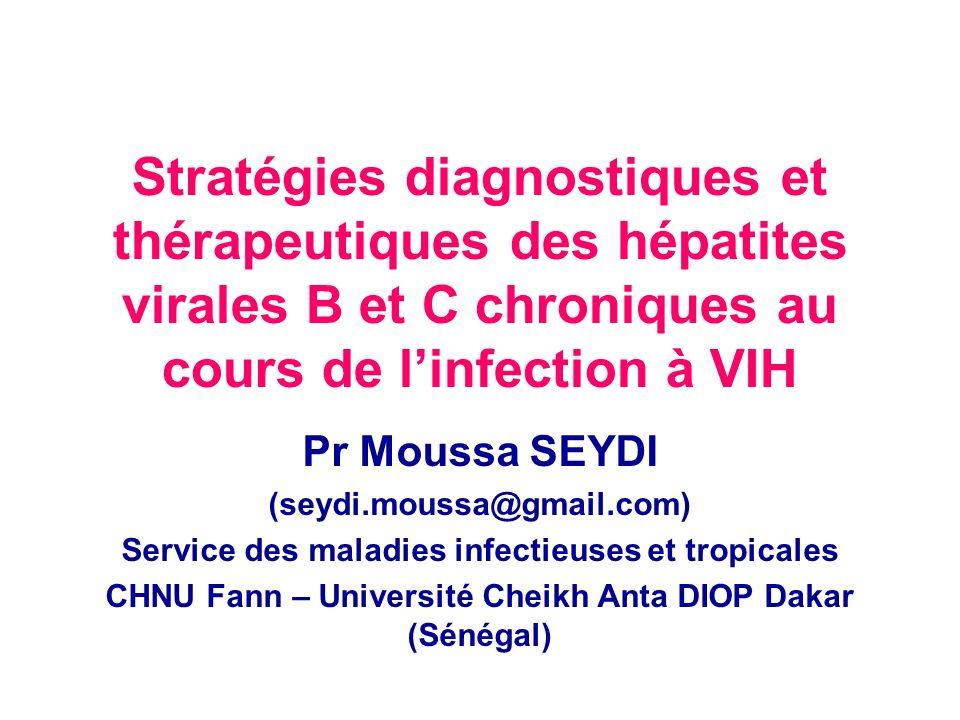 Stratégies diagnostiques et thérapeutiques des hépatites virales B et C chroniques au cours de l'infection à VIH