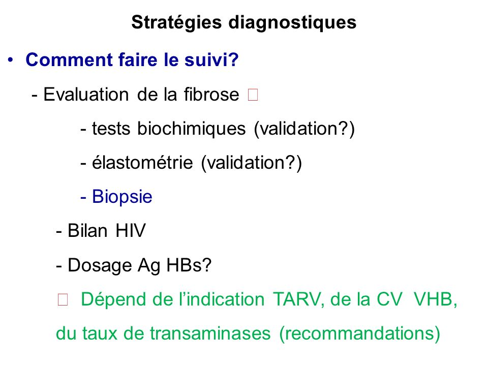 Stratégies diagnostiques
