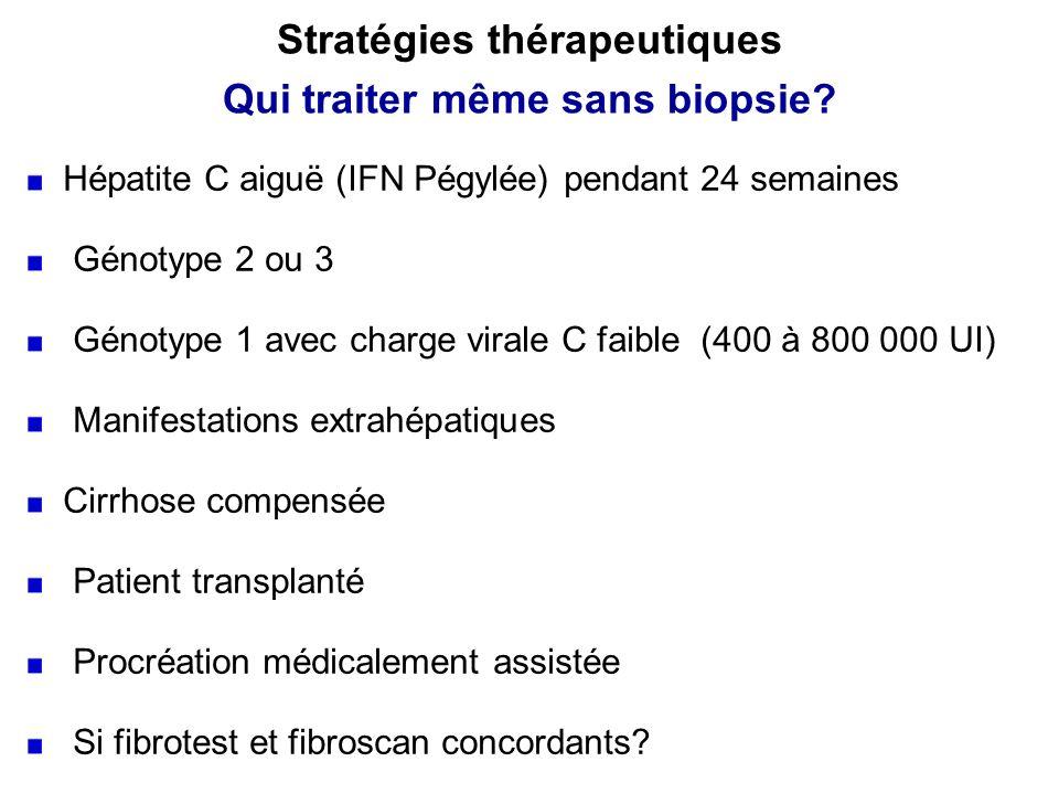 Stratégies thérapeutiques Qui traiter même sans biopsie
