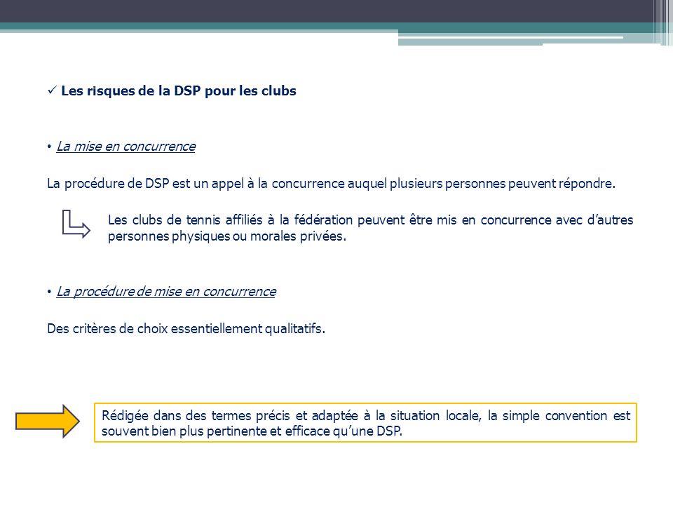 Les risques de la DSP pour les clubs