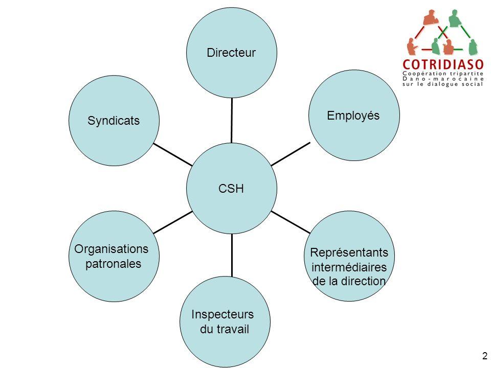 Directeur Employés Syndicats CSH Organisations Représentants