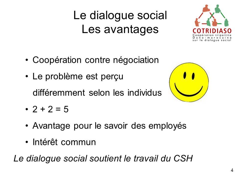 Le dialogue social Les avantages