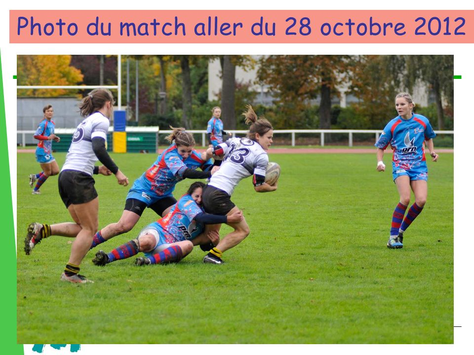 Photo du match aller du 28 octobre 2012
