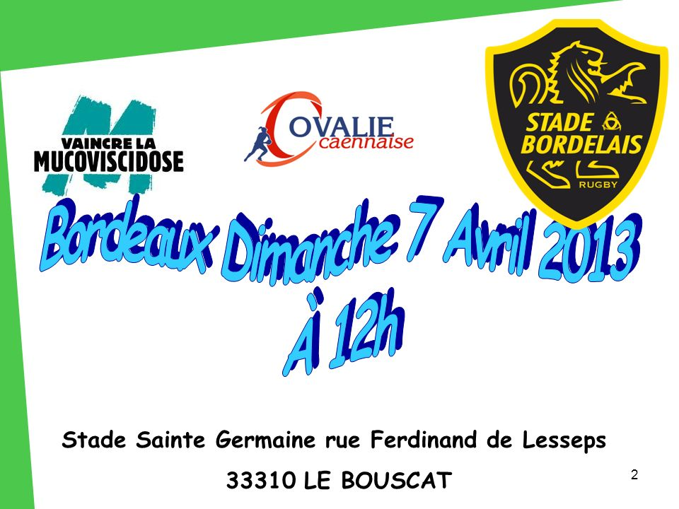 Stade Sainte Germaine rue Ferdinand de Lesseps 33310 LE BOUSCAT