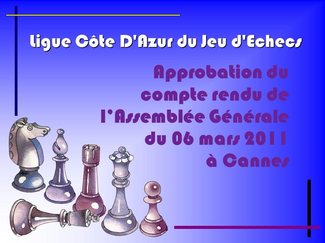 Ligue Côte D Azur du Jeu d Echecs