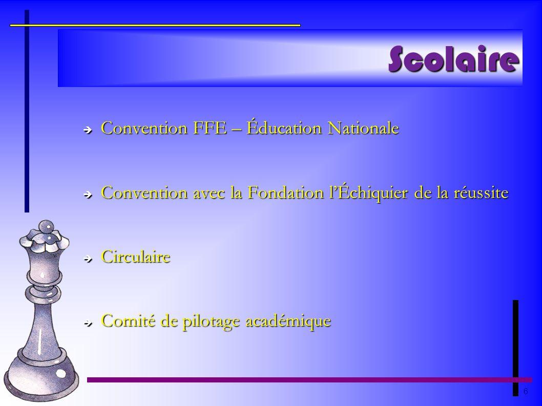 Scolaire Convention FFE – Éducation Nationale
