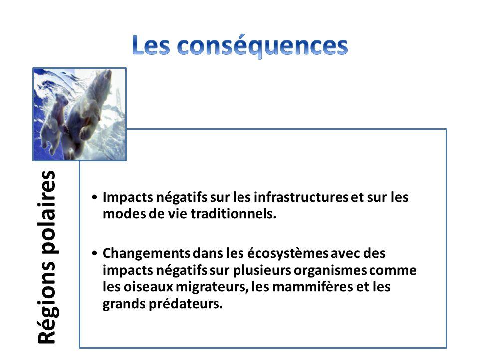 Les conséquences Régions polaires