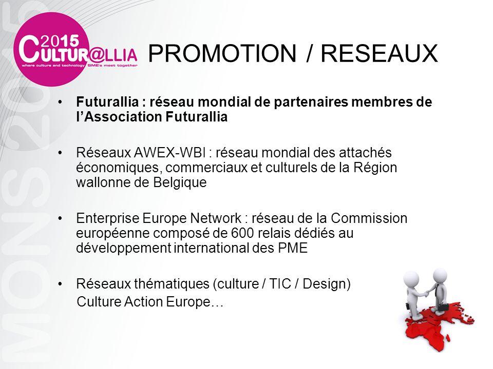 PROMOTION / RESEAUX Futurallia : réseau mondial de partenaires membres de l'Association Futurallia.