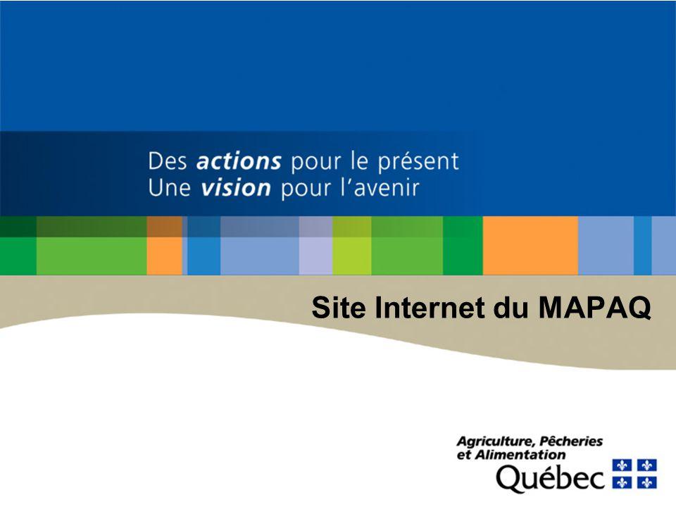Site Internet du MAPAQ