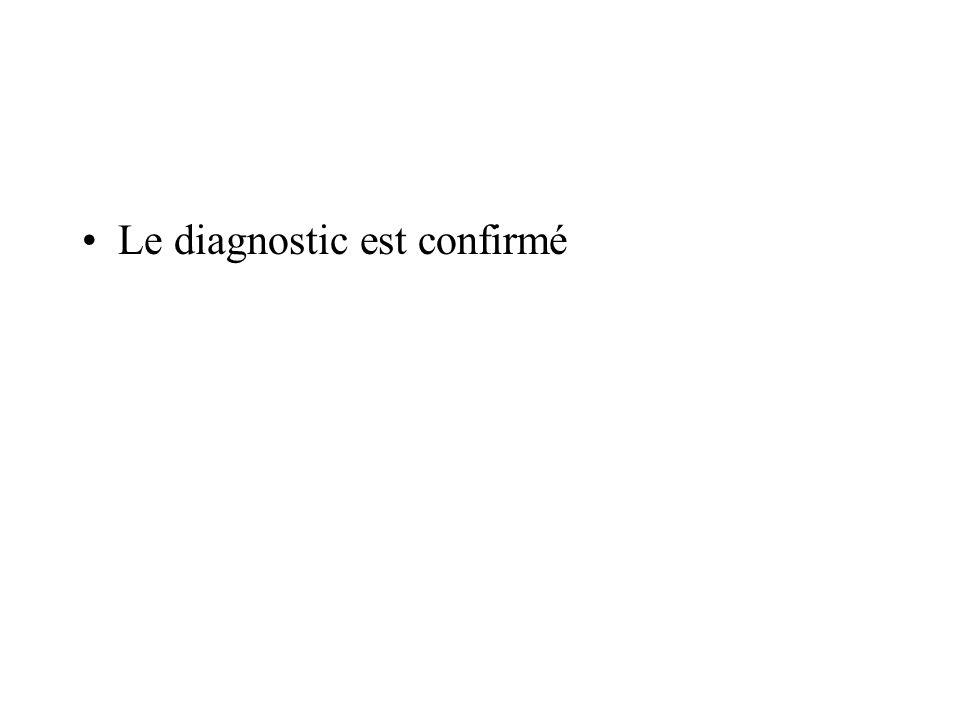 Le diagnostic est confirmé