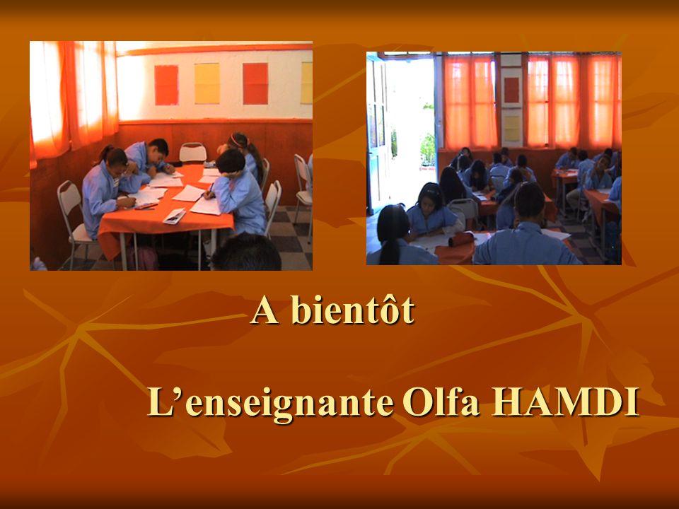 L'enseignante Olfa HAMDI