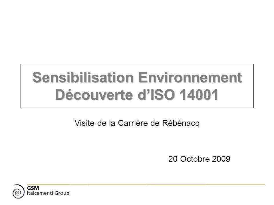 Sensibilisation Environnement Découverte d'ISO 14001