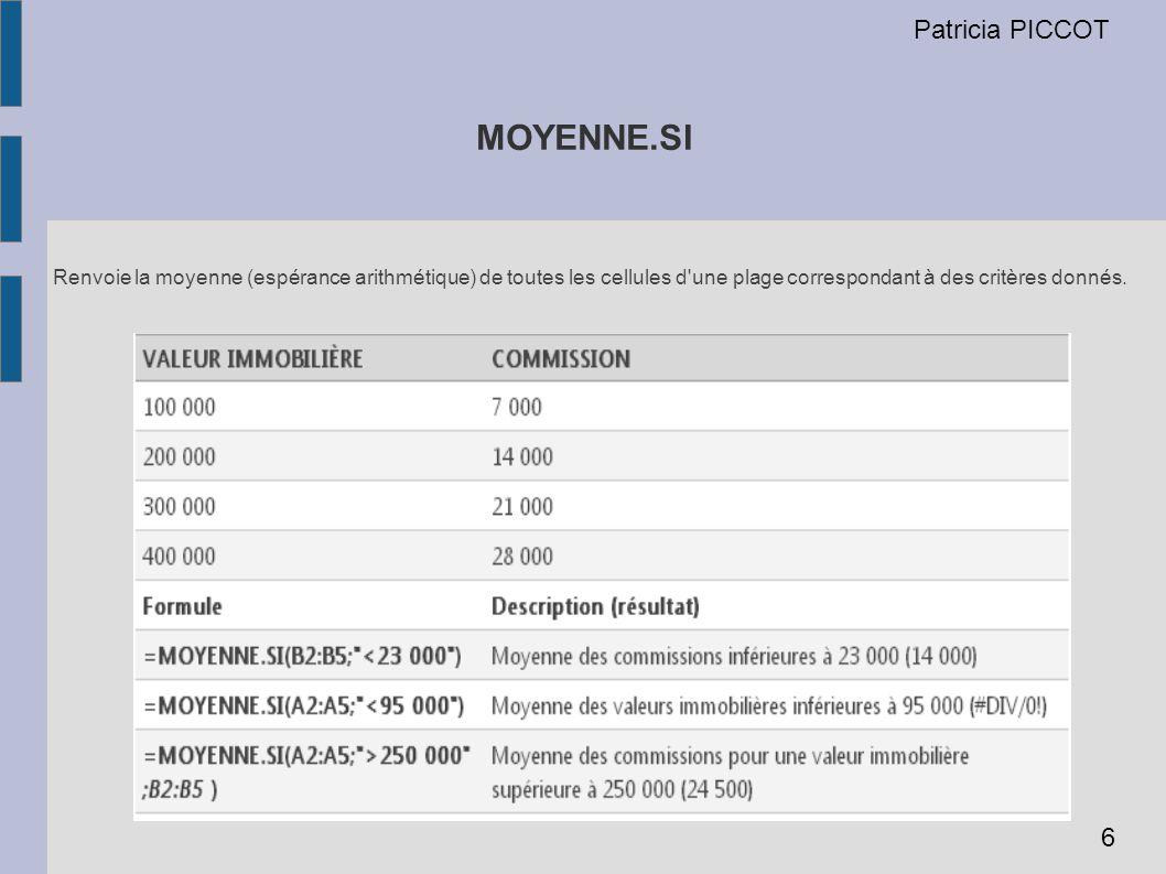 MOYENNE.SI Patricia PICCOT 6