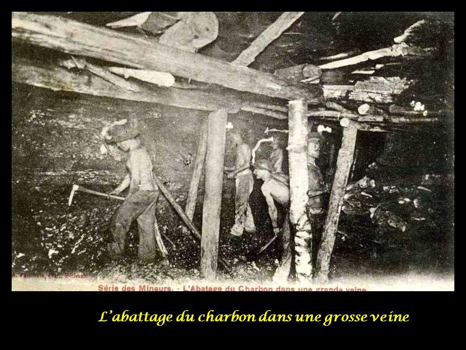 L'abattage du charbon dans une grosse veine