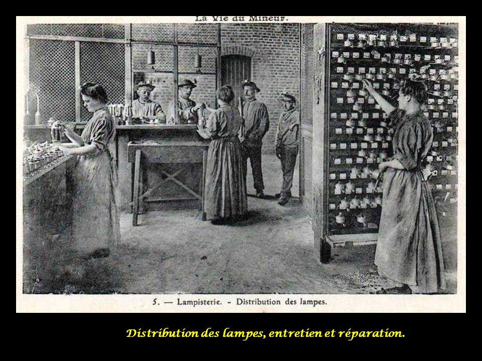 Distribution des lampes, entretien et réparation.