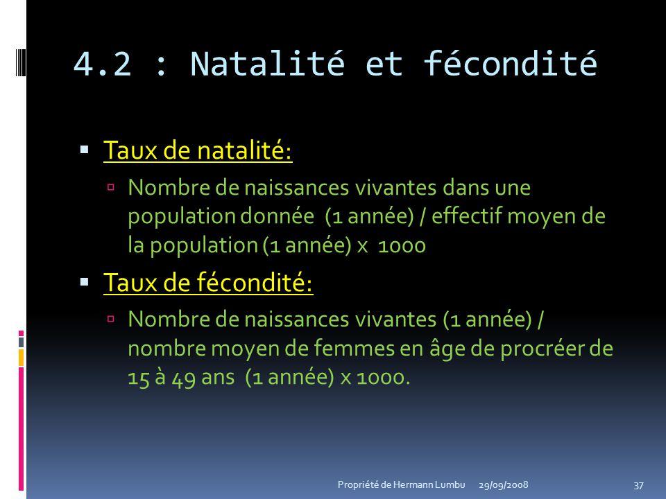 4.2 : Natalité et fécondité