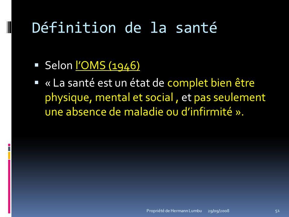Définition de la santé Selon l'OMS (1946)