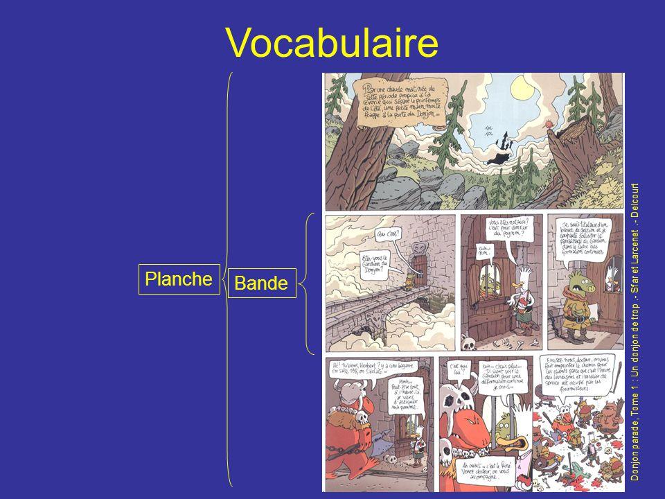 Vocabulaire Planche Bande