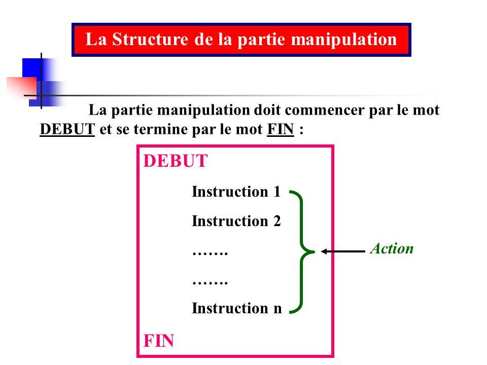 La Structure de la partie manipulation