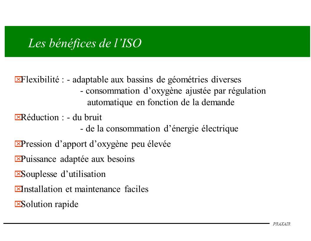 Les bénéfices de l'ISO Flexibilité : - adaptable aux bassins de géométries diverses.