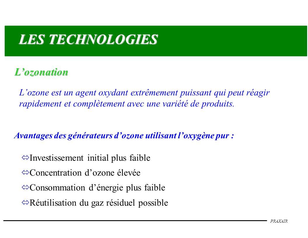LES TECHNOLOGIES L'ozonation