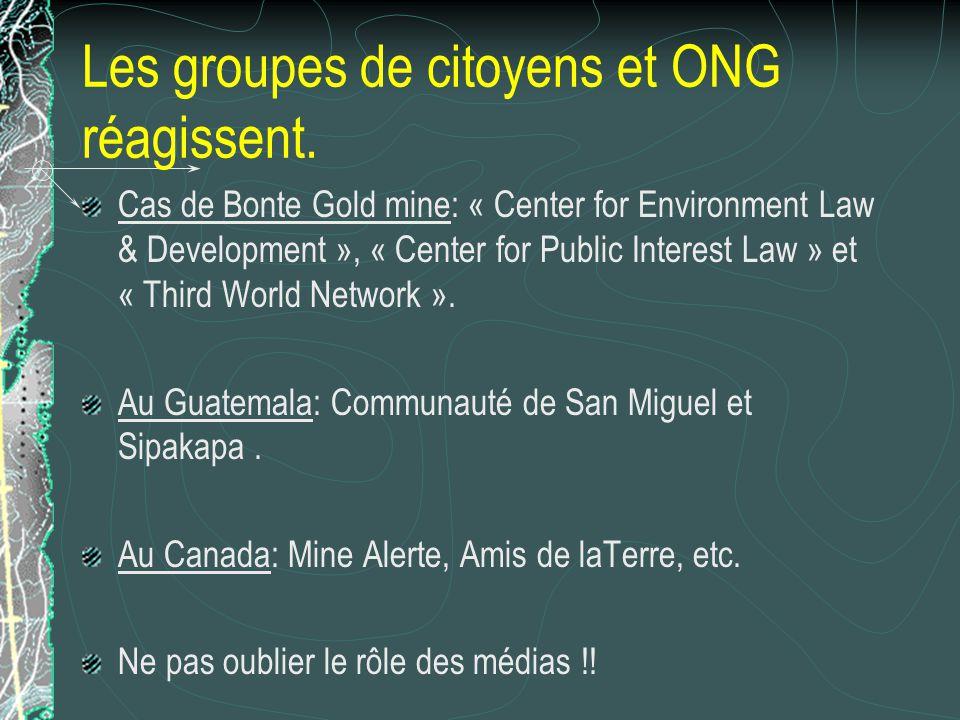 Les groupes de citoyens et ONG réagissent.