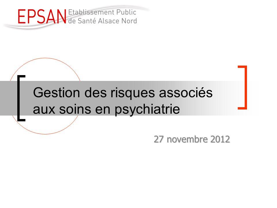 Gestion des risques associés aux soins en psychiatrie