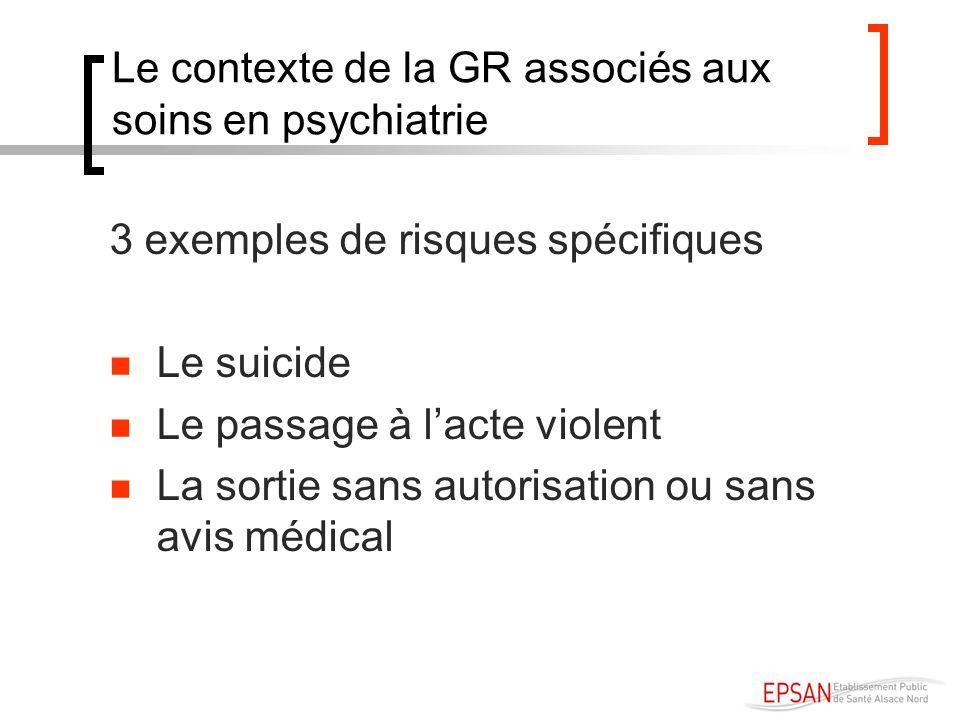 Le contexte de la GR associés aux soins en psychiatrie