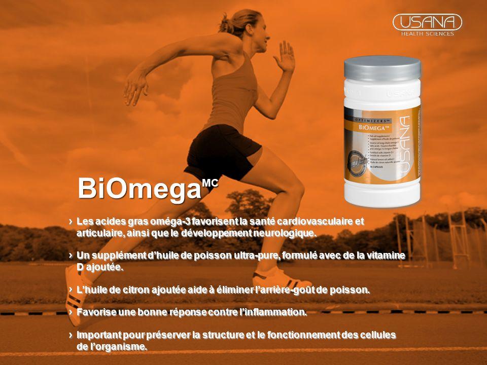 BiOmegaMC Les acides gras oméga-3 favorisent la santé cardiovasculaire et articulaire, ainsi que le développement neurologique.