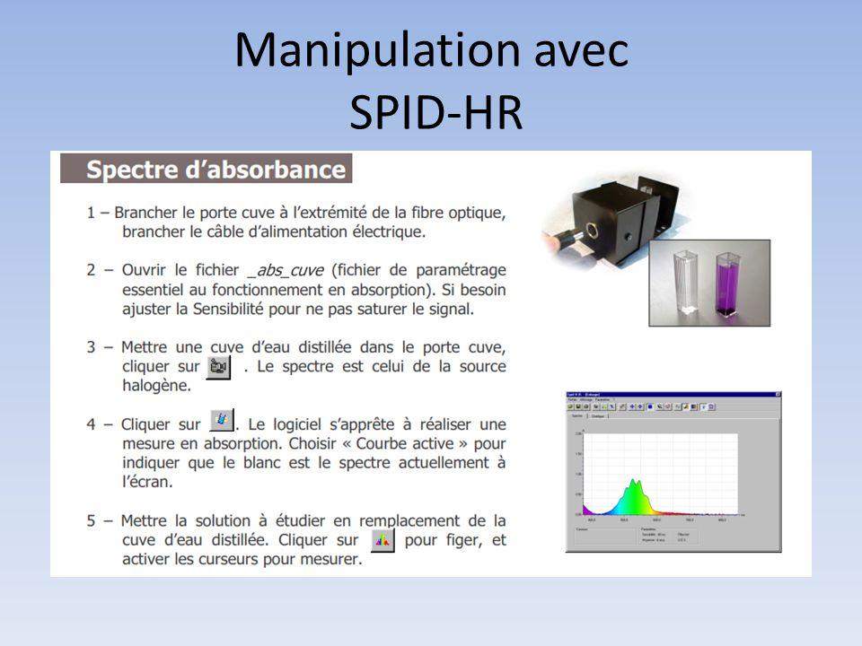 Manipulation avec SPID-HR