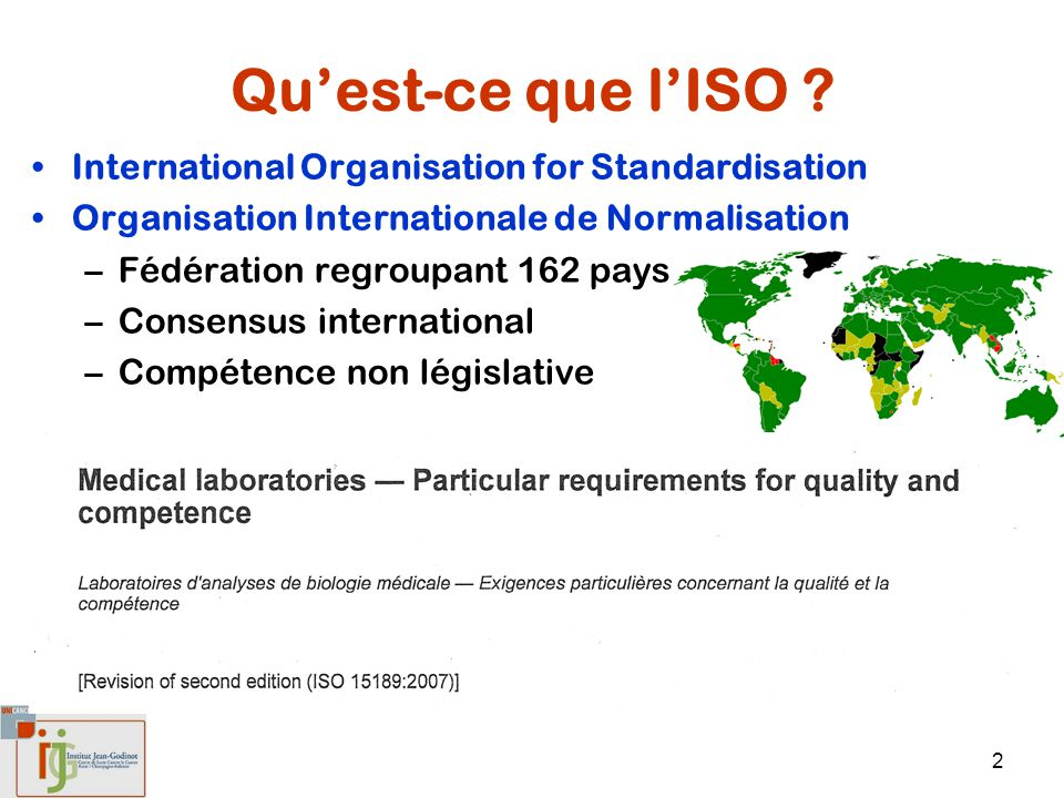 Qu'est-ce que l'ISO International Organisation for Standardisation
