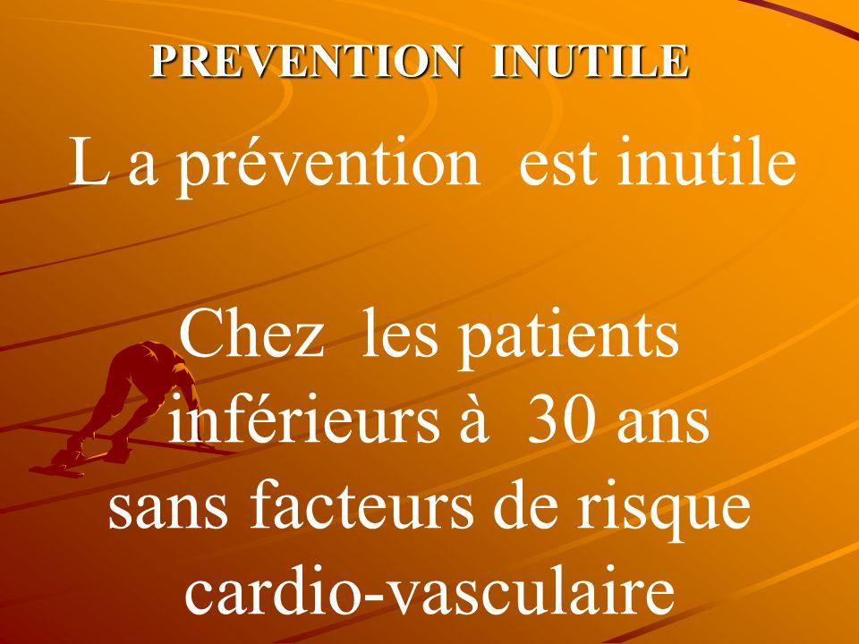 sans facteurs de risque cardio-vasculaire