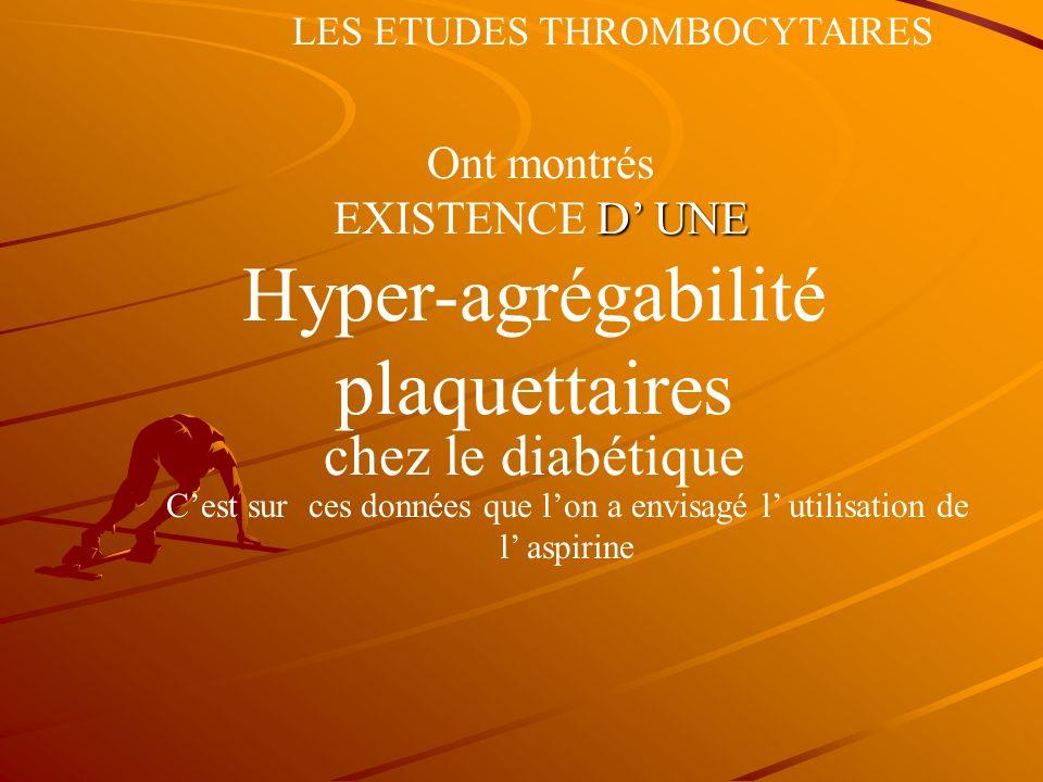 Hyper-agrégabilité plaquettaires