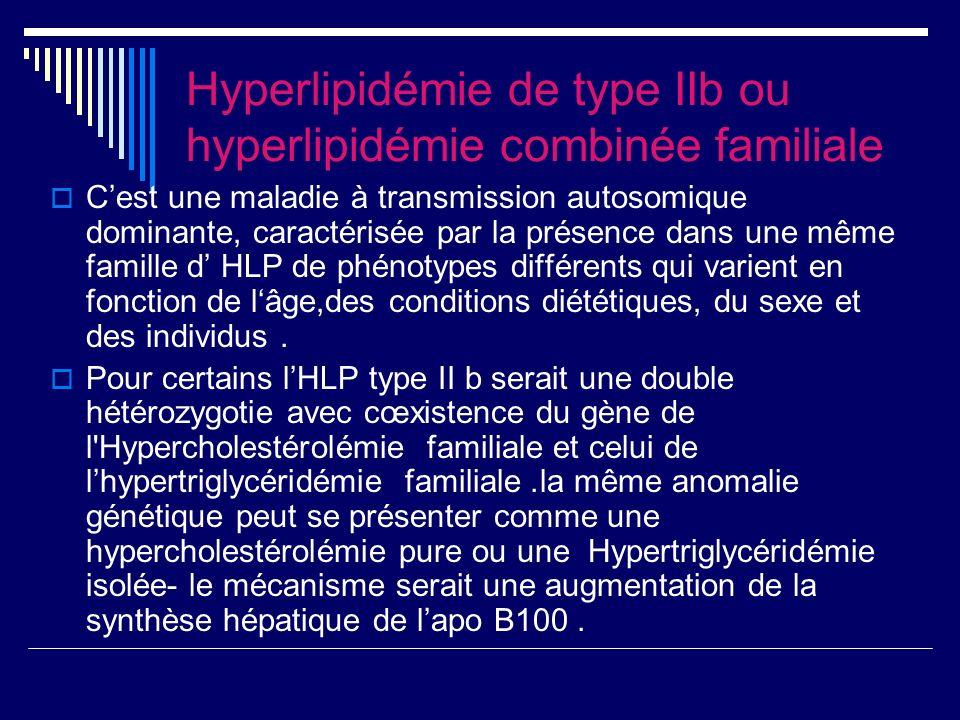 Hyperlipidémie de type IIb ou hyperlipidémie combinée familiale