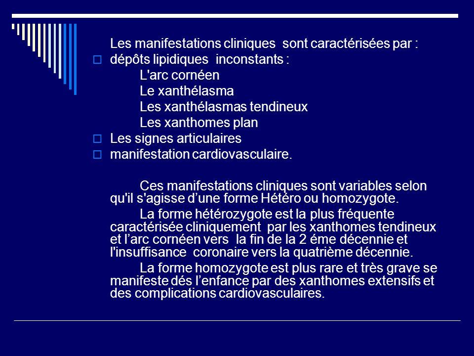 Les manifestations cliniques sont caractérisées par :