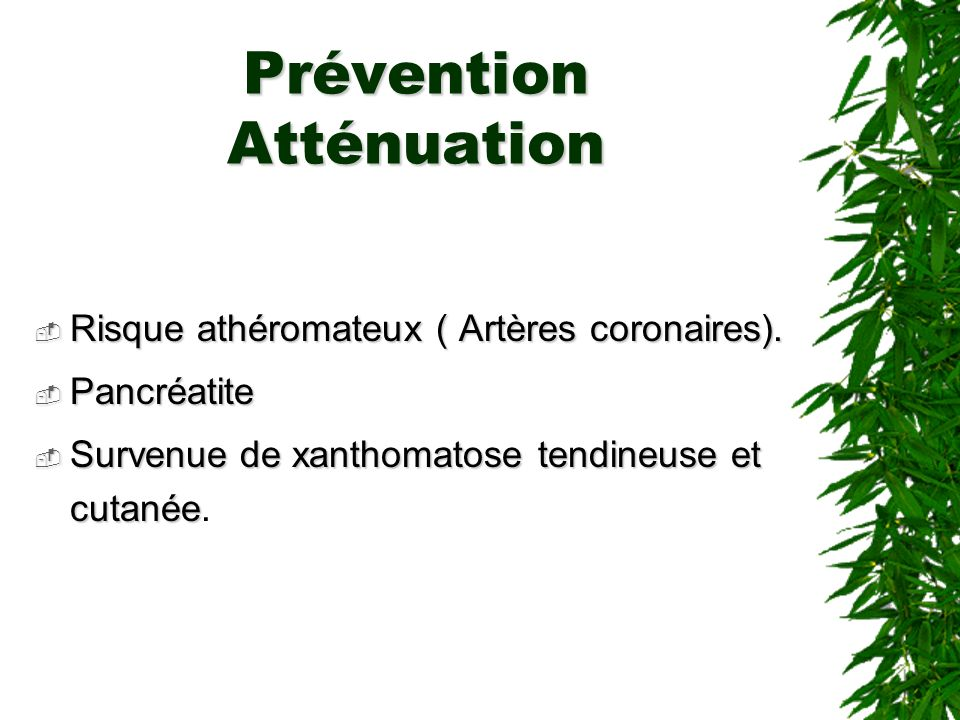 Prévention Atténuation